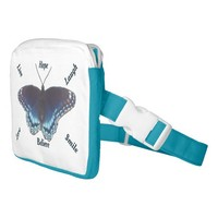 Red Spotted Purple Butterfly Waist Bag