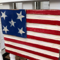 Wooden American Flag- distressed for outdoor or indoor uses