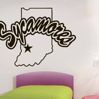 NCAA Indiana State Sycamores Wall Vinyl Decal Mural Decals Sticker Sport Logo Team W441