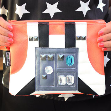 The Force Is Strong With This One Clutch Bag With Wristlet | Star Wars Luke Skywalker X-Wing Fighter Pilot Inspired | Purse | Geek Chic