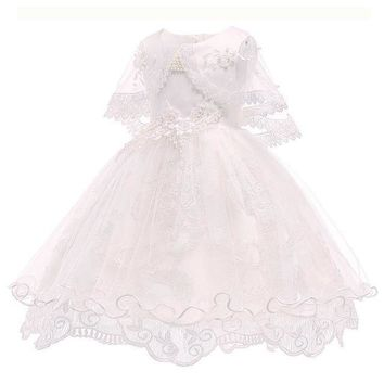 White Dress For Girls Princess Dress For Girl Toddler Dress 3T to 10yo