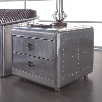 Lazzaro Leather Lindbergh Bomber End Table | Overstock.com Shopping - The Best Deals on Coffee, Sofa & End Tables