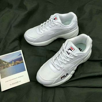 """""""Fila"""" Women All-match Casual Fashion Solid Color Letter Thick Bottom Sneakers Running Shoes"""