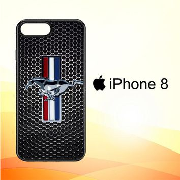 FORD MUSTANG CARBON FIBER Z4267 iPhone 8 Case