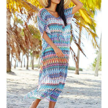 Chiffon Long Beach Dress Sexy Beach Cover up Bathing Suit Cover ups Summer Beach Dress Swimsuit Cover up Beachwear Pareo Sarong