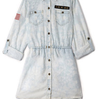 Stars & Stripes Denim Shirt Dress (Kids)