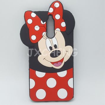 3D Cartoon Mickey Minnie Mouse bow-knot Soft Silicone Case For Huawei Mate 10 Lite/MaiMang 6 Rubber Cover shell phone cases