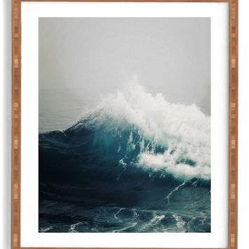 DENY Designs Sea Wave Framed Wall Art | Nordstrom