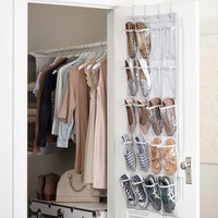 Over The Door Vinyl Shoe Rack