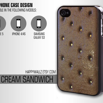 IceCream Ice Cream Sandwich Iphone Case Food Iphone 4 case Hipster Iphone 5 case Iphone 4s case Samsung Galaxy S3 Case Iphone 4 Cover