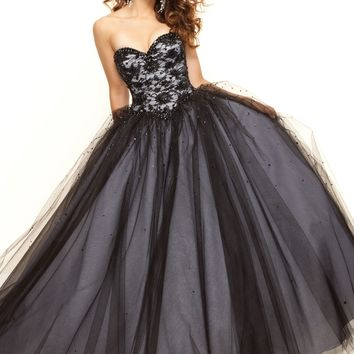 Paparazzi by Mori Lee 93033 Black Ball Gown