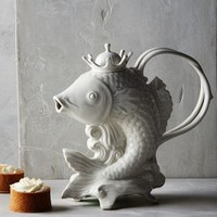 Poisson Teapot by Anthropologie in White Size: Teapot Serveware