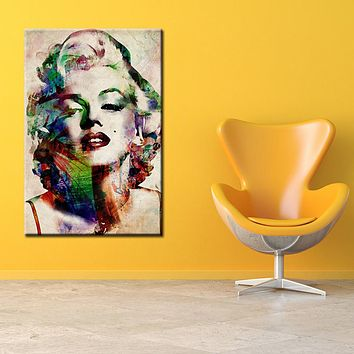 Abstract Canvas HD Prints Pictures Wall Art Posters Celebrity Sexy Marilyn Monroe Paintings Home Decor For Living Room Framework
