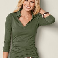 Knit Shirt in Olive | VENUS