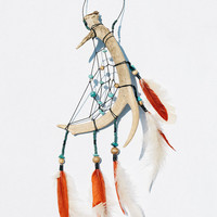 Handmade Single Antler Dreamcatcher
