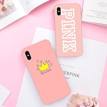 PINK VS Phone Case For iPhone
