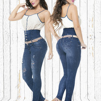 High Waisted Colombian Butt Lift Jeans