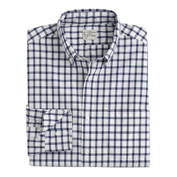 J.Crew Mens Slim Secret Wash Shirt In Classic Navy Tattersall