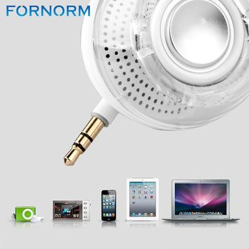White/Black Mini Portable Speaker 3.5mm Aux Rechargeable Loudspeaker Smartphone speaker for iPhone iPad Samsung etc