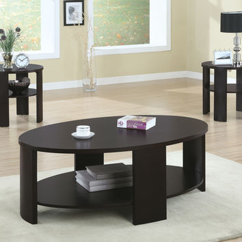 End Table - Round - Cherry Contemporary Style