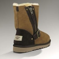 UGG Fashion Women Fur Zipper Wool Snow Boots In Tube Boots Shoes