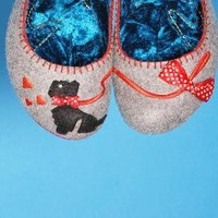 Scottie Dog Shoes in Grey from Irregular Choice124