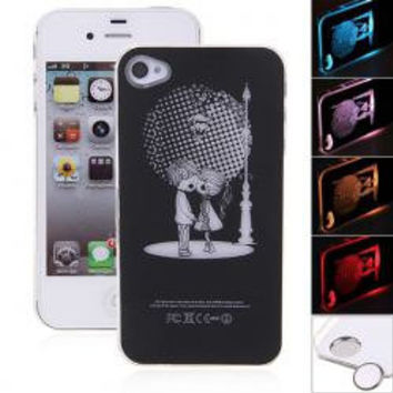 Lovers Style Flasher LED Color Changed Protector Case for iPhone 4/4S (Flash While Calling or Called)