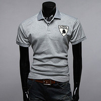 Car Racer Style Monogrammed Polo