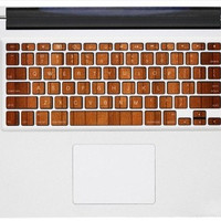 wood Stripe keyboard decals macbook pro stickers mac keyboard decal mac stickers mac stickers macbook for  mac pro /air /laptop