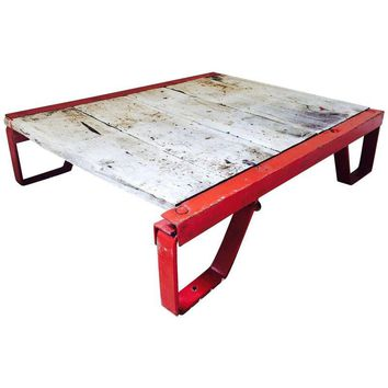 Pre-owned Factory Flatbed Cart Coffee Table