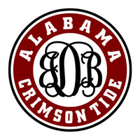 ALABAMA *Monogram* *DECAL* [Alabama University] BAMA/Roll Tide/Crimson Tide