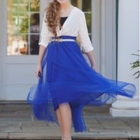 Formal Tulle Maxi Skirt
