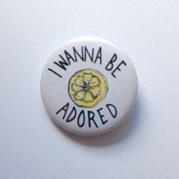 The Stone Roses Lyrics - I Wanna Be Adored 25mm Badge Button