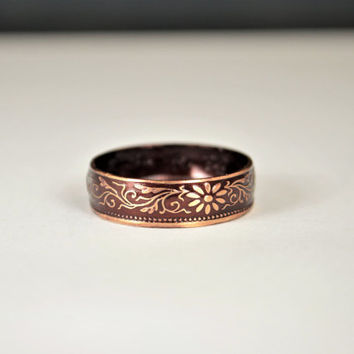 Japanese Jewelry, Burgundy Ring, Japanese Ring, Coin Ring, Bronze Ring, Japanese Coin, Japanese Coin Ring, Coin Ring, Japanese Art, Coin Art