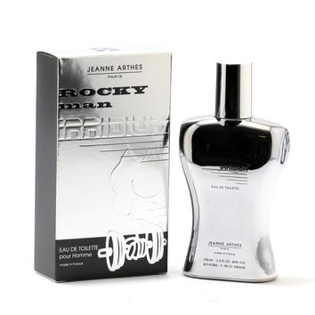 Rocky Man Irridium for Men by Jeanne Arthes EDT Spray 3.3 oz only $10.95 at https://www.cosmic-perfume.com