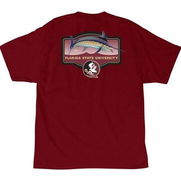 ONETOW NCAA Florida State Seminoles Guy Harvey Men's Masters T-Shirt