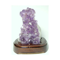 Amethyst Crystal Cluster Raw Purple Crystals in Stand Brazil Gem