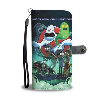 KUYOU Rick And Morty And Ghost Buster Wallet Phone Case