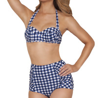 Farmers Daughter Gingham Highwaisted  Swimsuit