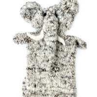 Hand Knit Storytime Elephant Puppet