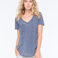 Others Follow Womens Pocket Tee Navy  In Sizes