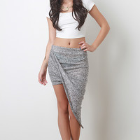 Draped Speckle Skirt