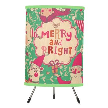 christmas,hipster,fun,happy,colourful,graphic desi tripod lamp