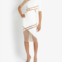 David Koma Mesh Inset Dress at INTERMIX | Shop Now | Shop IntermixOnline.com