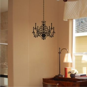 Chandelier Wall Decal add accent and charm to your home in minutes with this Removable Wall Art Sticker