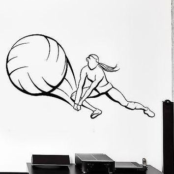 Wall Stcker Sport Volleyball Player Girl Female Woman Vinyl Decal Unique Gift (z3048)