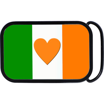 Heart Ireland Flag Belt Buckle
