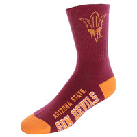 Arizona State Sun Devils Large Deuce Performance Tube Socks – Maroon