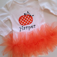 Pumpkin Tutu Onesuit, Pumpkin Onesuit for girls, Halloween Tutu, Thanksgiving Tutu, Pumpkin Onesuit, Halloween Onesuit