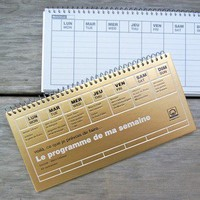 DAYS Weekly Schedule Book - Gold ? Omiyage - simply charming things from Japan!